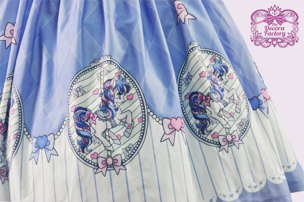 Image of Carousel Dream Skirt in Blue