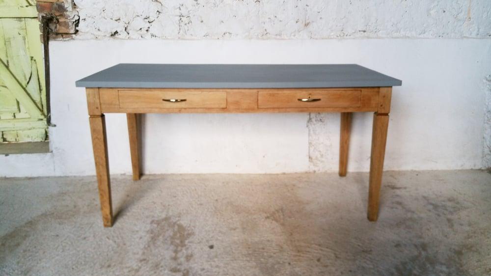 Image of Table de salle à manger chêne Vintage