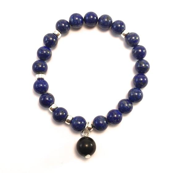 Image of NEW! Lapis Lazuli Infinity Wrist Mala