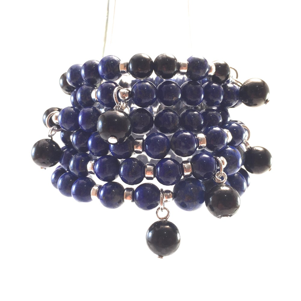 Image of Lapis Lazuli Infinity Wrist Mala