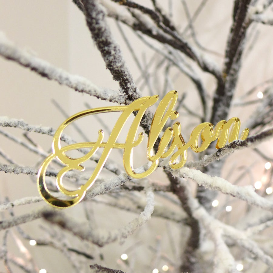 Image of 5x Personalised Laser Cut Acrylic Name Ornament Bundle
