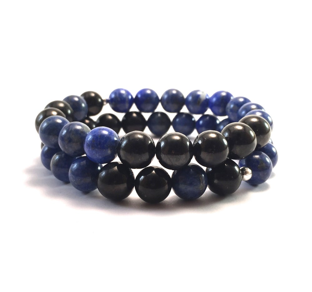 Image of New! Men's Infinity Lapis Lazuli & Shungite
