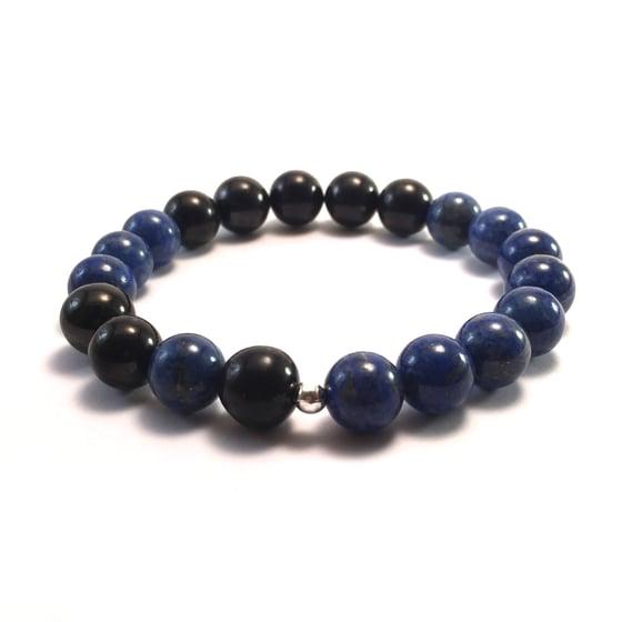 Image of Men's Infinity Lapis Lazuli & Shungite