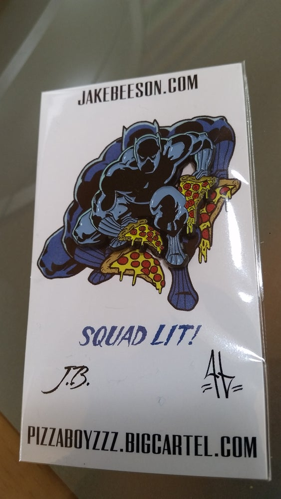 Image of Black panther double slice pin