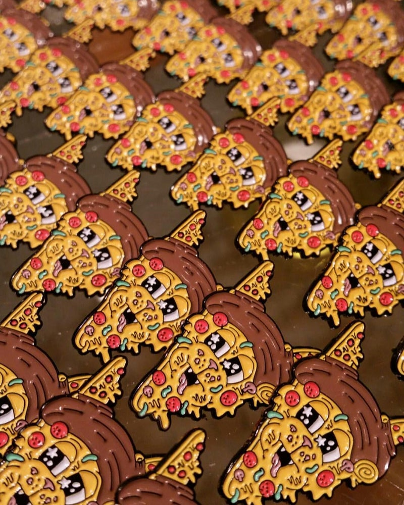 Image of PIZZA CAT 1.25 INCH PIN