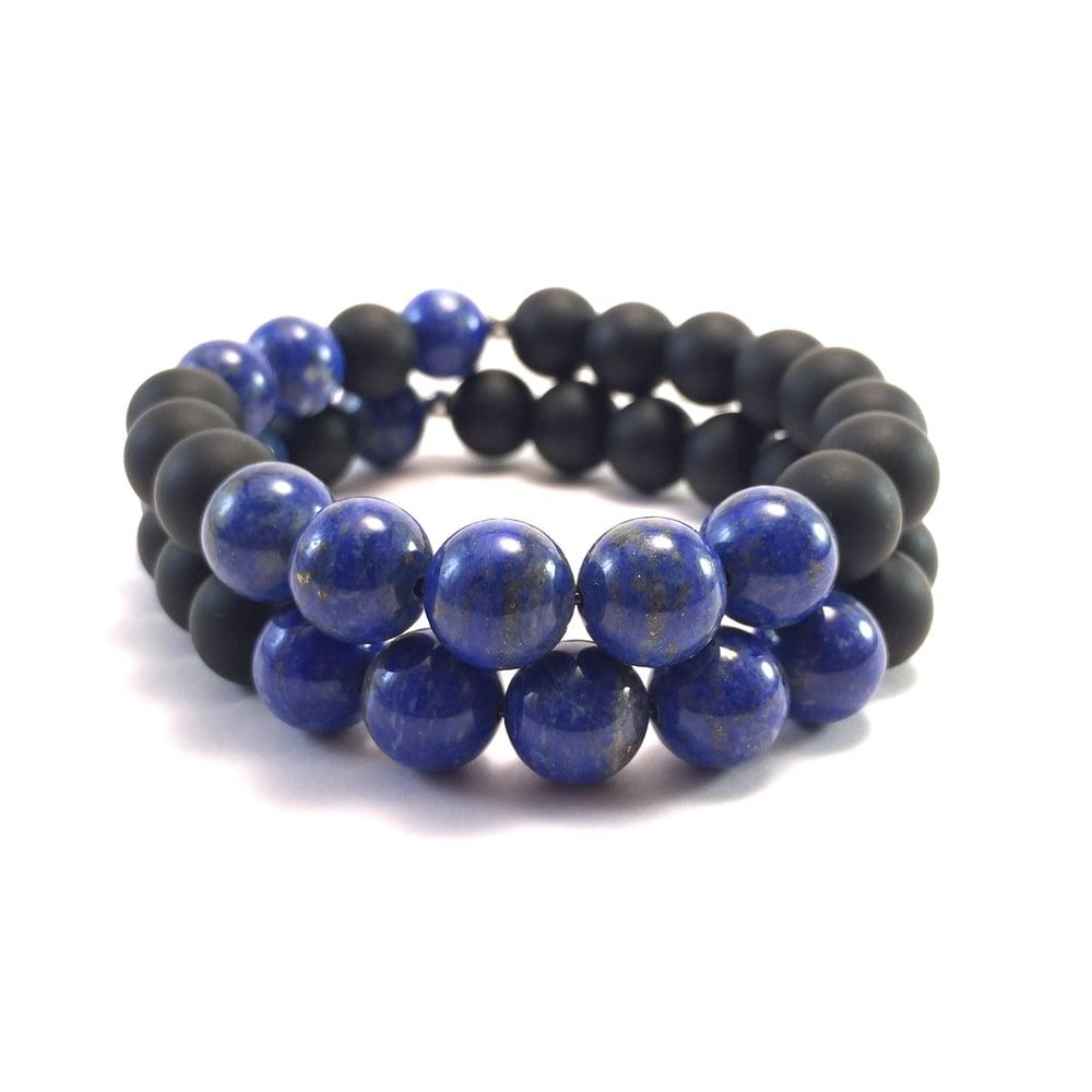 Image of Men's Infinity Lapis Lazuli & Onyx