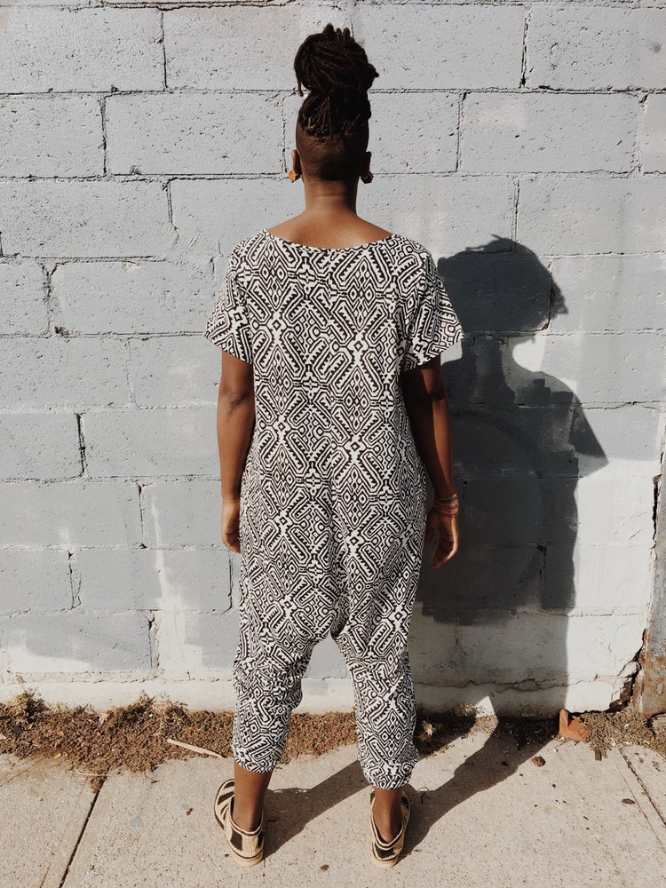 Image of •JéJé• Leisure Jumpsuit: native diamonds