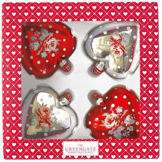 Image of GreenGate Christmas Baubles ~ Heart