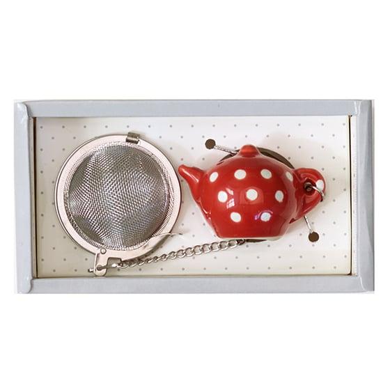 Image of GreenGate Tea Infuser ~ Vilma Warm Red