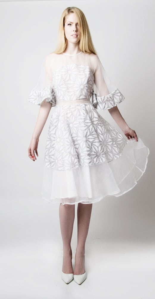 Image of Rosyln Organza Dress