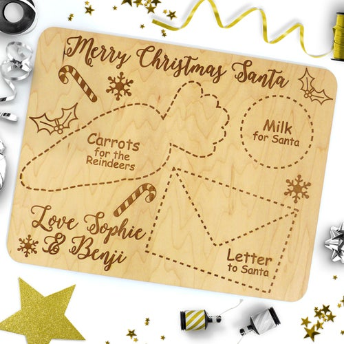 Image of Personalised Night Before Christmas Santa Placemat