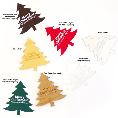 Image of Christmas Tree with Personalised Message