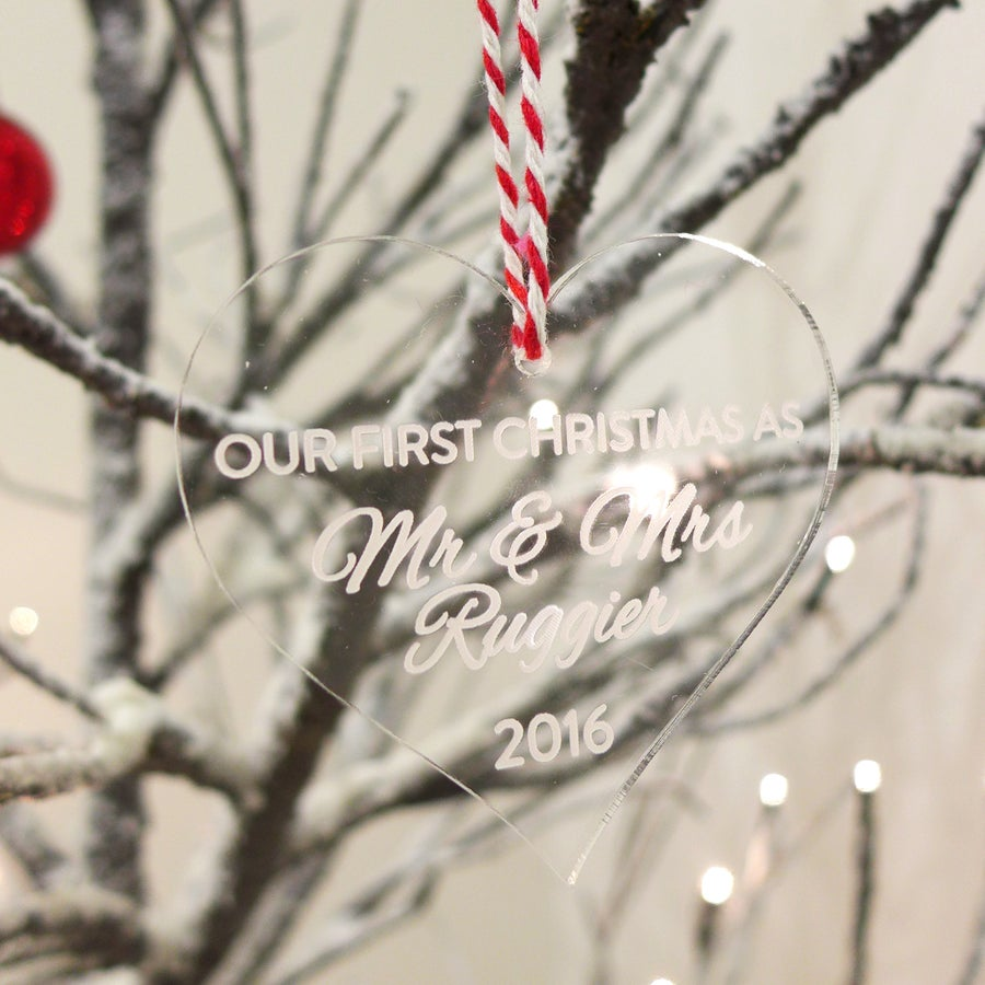 Image of Personalised Message Heart Ornament