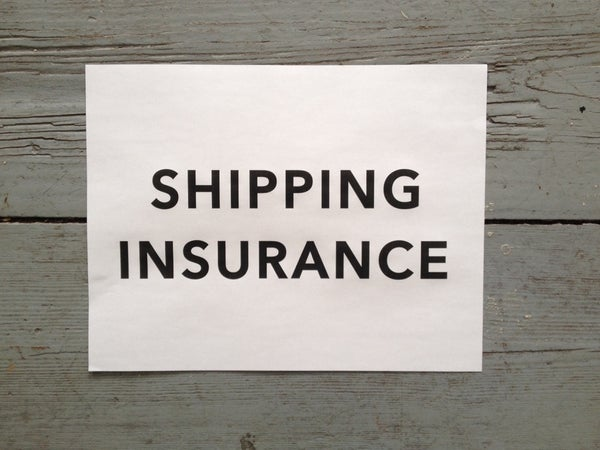 Image of SHIPPING INSURANCE / REGISTERED SHIPPING
