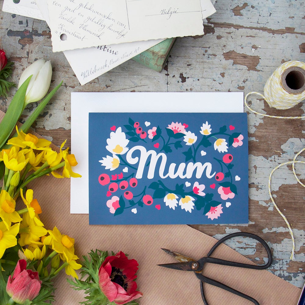 Image of Mothers Day Hearts And Berries Card