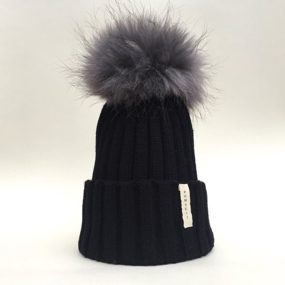 Image of Charcoal Grey Pom Pom
