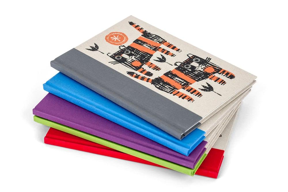 Image of Fish A5 handprinted hardback sketchbook
