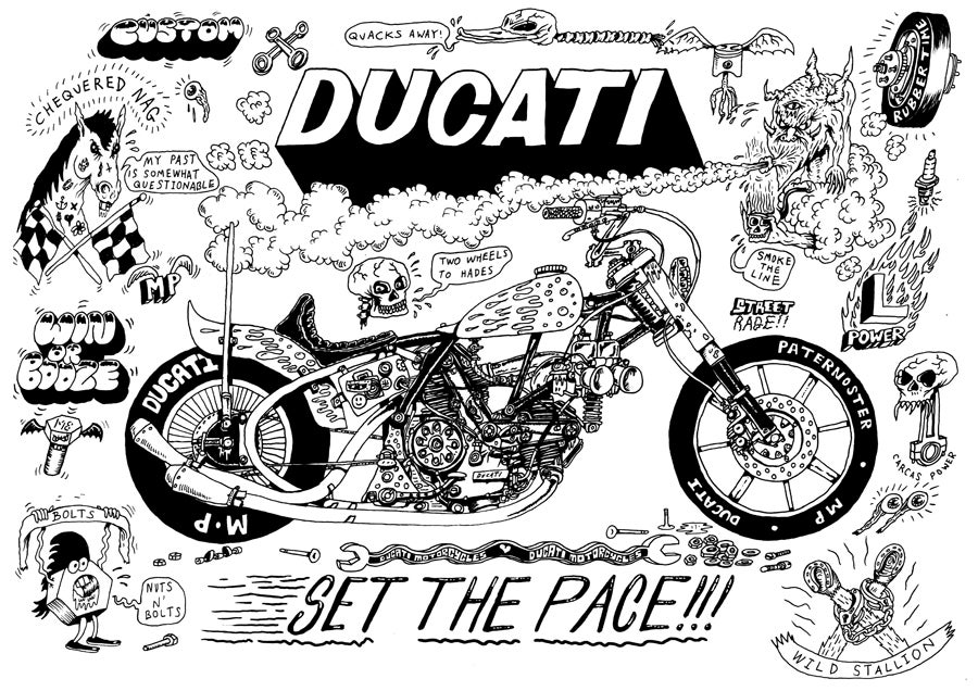 Image of Ducati A4 Giclee print edition
