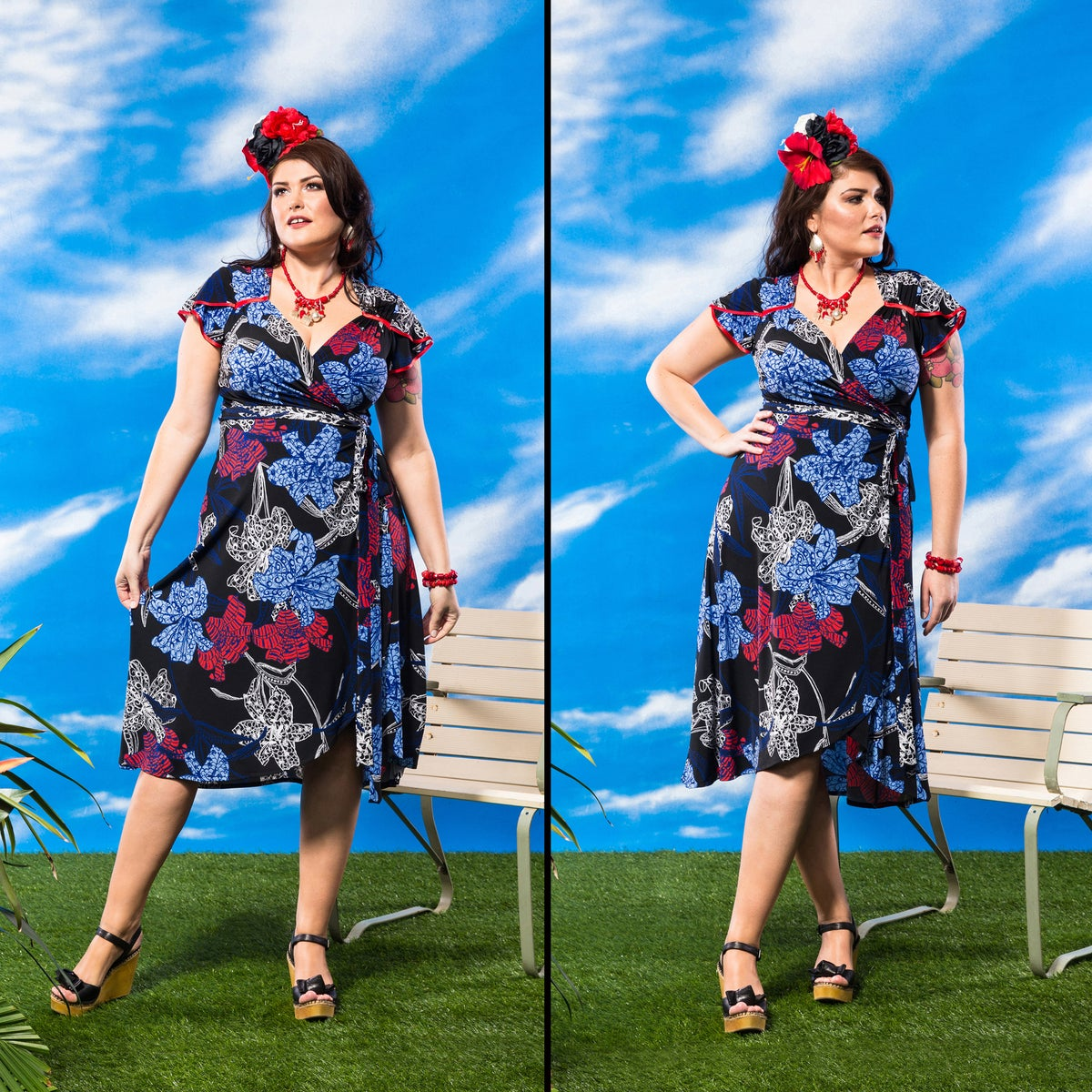Image of BELLA FIORA WRAP DRESS...