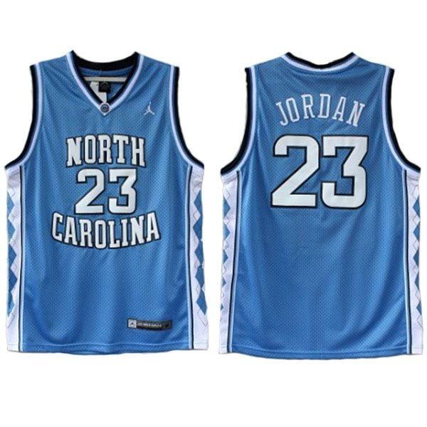 "Image of NORTH CAROLINA ""JORDAN"" #23 BASKETBALL THROWBACK JERSEY"