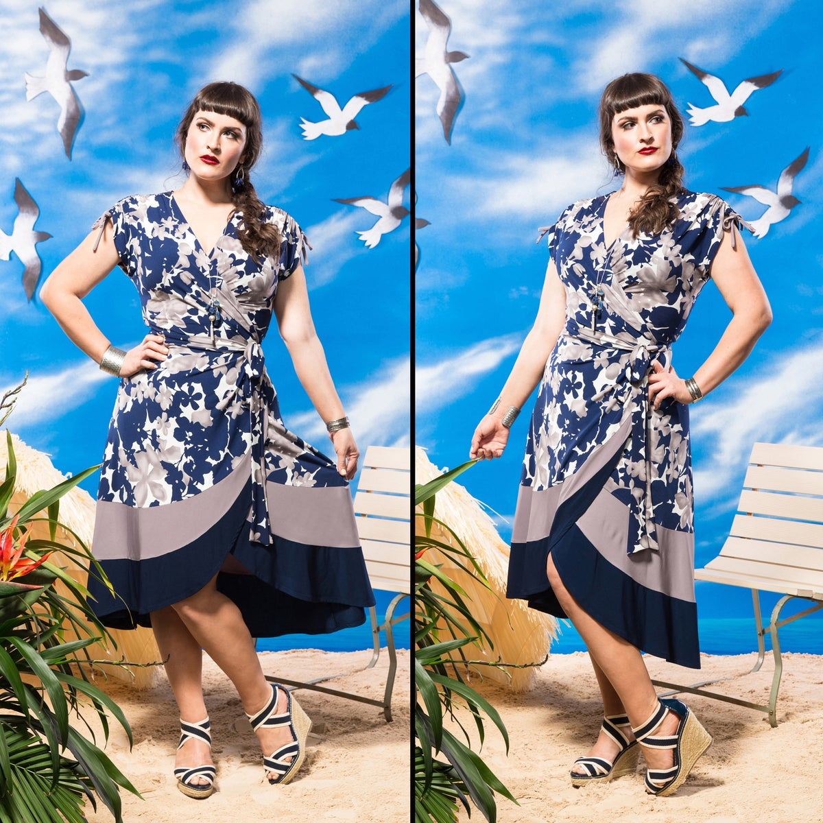 Image of ST. TROPEZ WRAP DRESS (other options available)