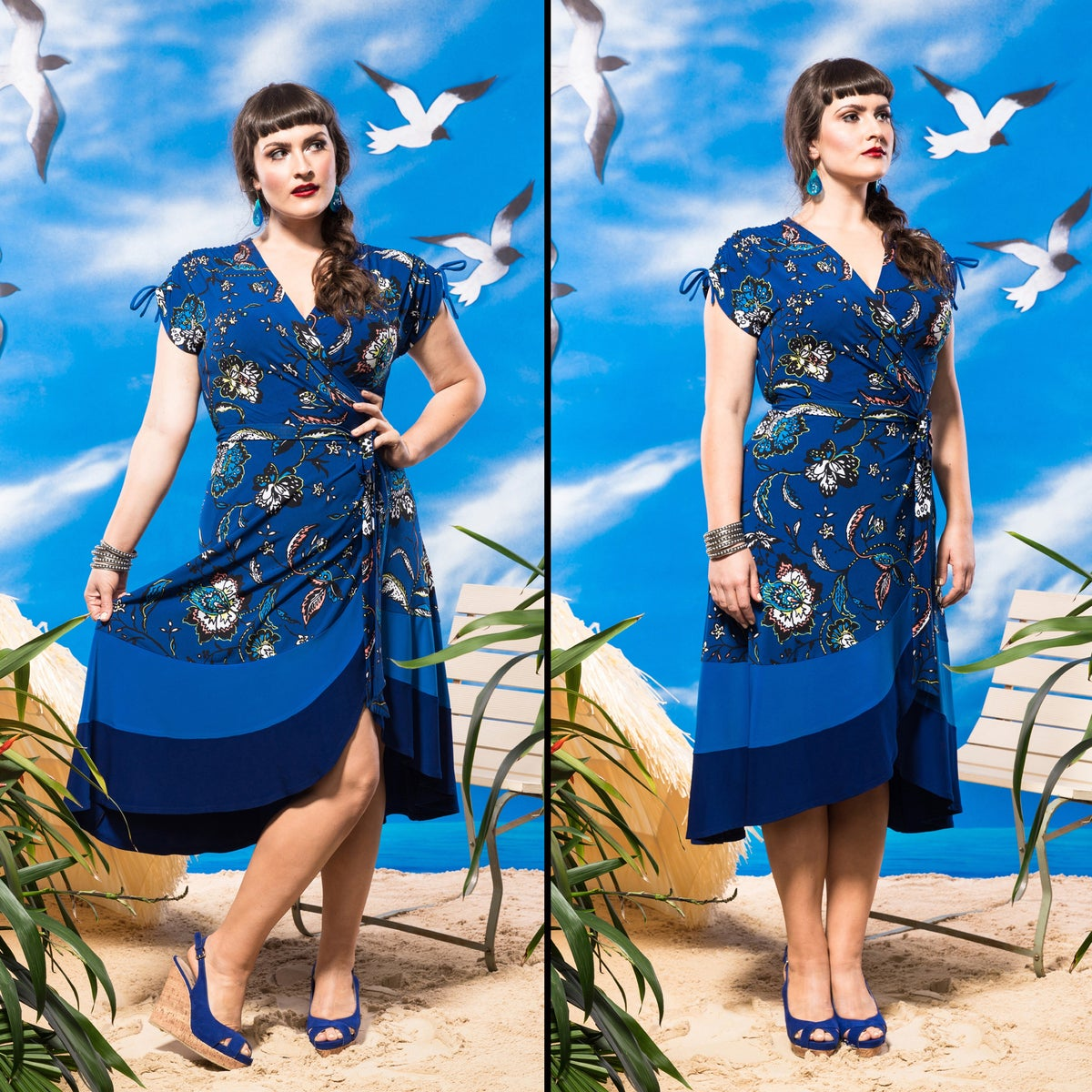 Image of ST. TROPEZ WRAP DRESS