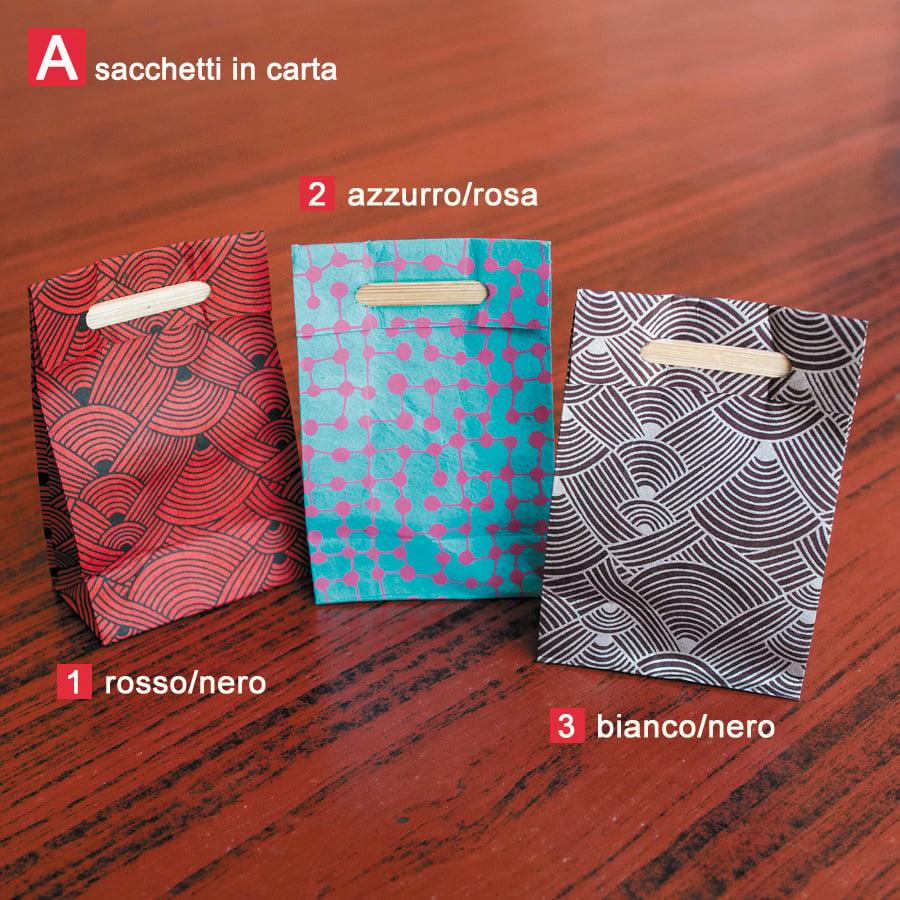 Image of Sacchettini in carta e sacchetti tahili (10) | Paper and tahili bags (10)