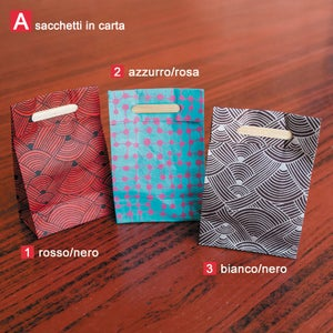 Image of Sacchettini in carta e sacchetti tahili (10) | Paper and tahili bags (10)