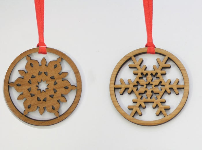 Image of Wood Snowflakes