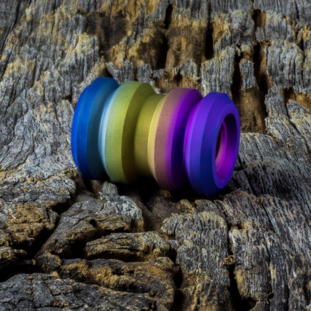 Image of Tank Rainbow Spectrum Ti Bead #1