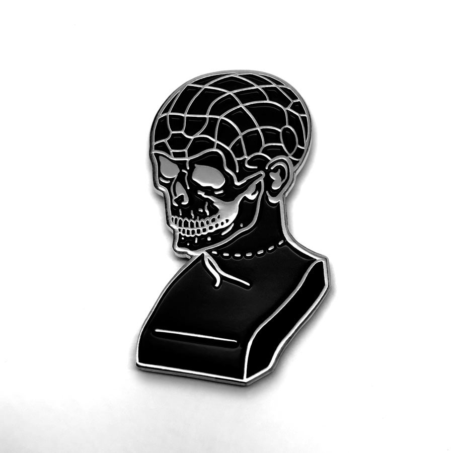 Image of Phrenology Skull Pin