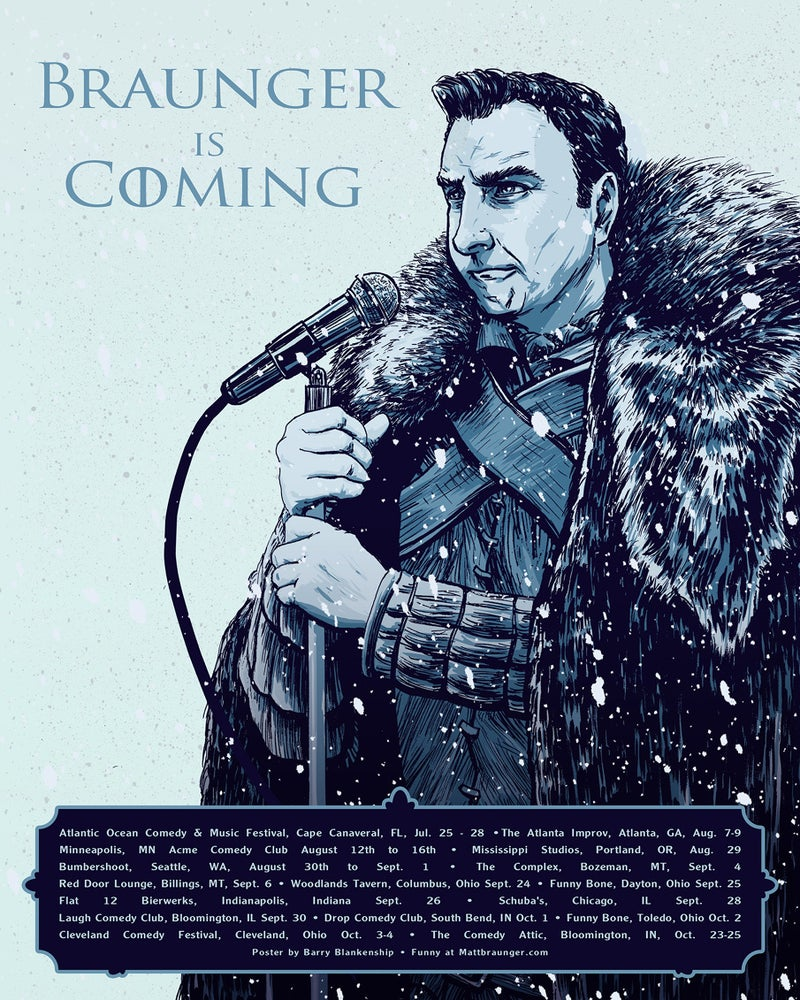 Image of Braunger is Coming
