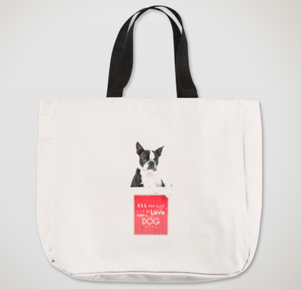 """Image of Larry Kelly """"Love"""" Canvas Tote"""