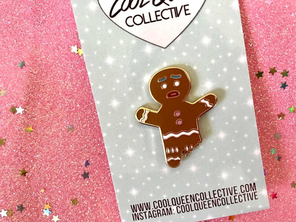 Image of Gingerbread Man Enamel Pin
