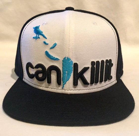 "Image of RBL BLUEBIRD SNAPBACK ""CAN I KILL IT"" (BLK/WHT)"