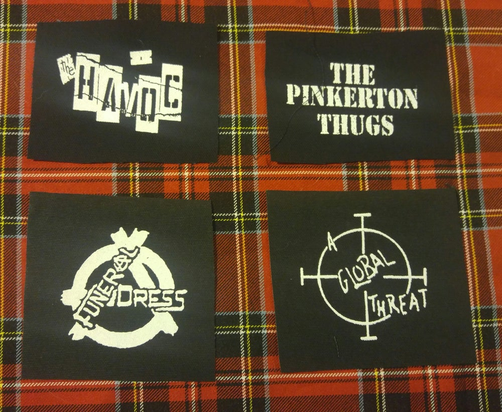 Image of Pick 1 patch - Havoc, A Global Threat, Funeral Dress, Pinkerton Thugs