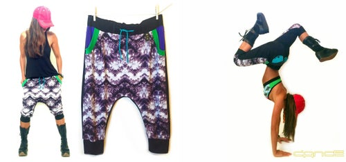 Image of Purple Tie Dye Drop Crotch Pants