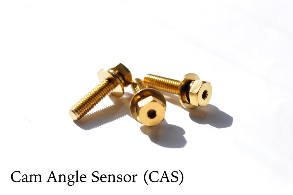 Titanium Bolt Kit - Cam Angle Sensor (Color: Burnt Blue) (Gold, Black  coming soon - inquire pls)
