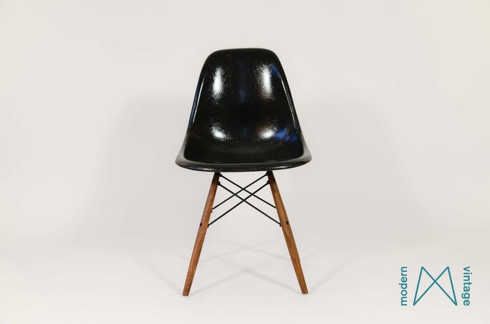 Image of Eames Herman Miller original vintage Black DSX DSR DSW
