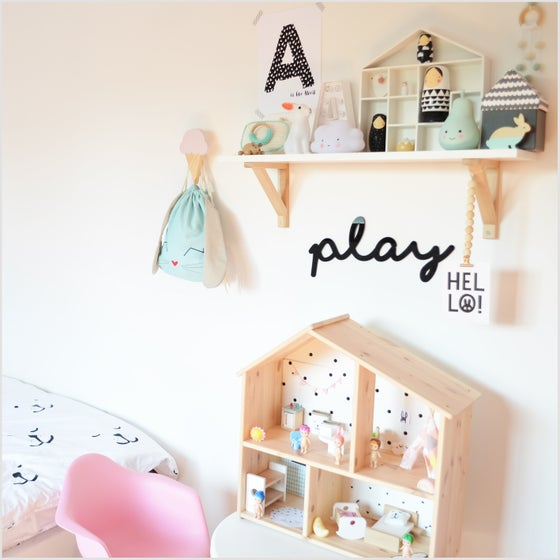Image of Play Acrylic Sign