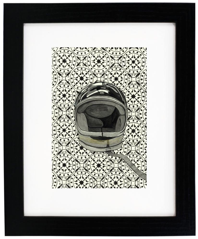 Image of Black Vintage Helmet