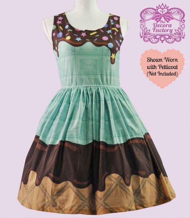 Image of Minty Melts Ice-cream Dress