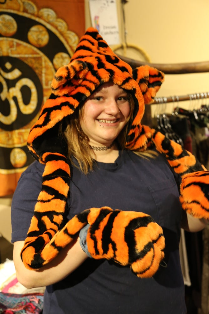 Image of Bolli Bear Tiger Paw Hood Orange