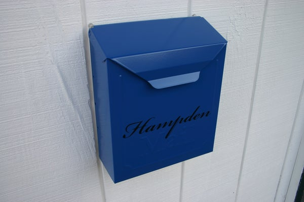 Image of Deep Blue Painted Locking or Non Locking Mailbox by TheBusBox - Choose your color