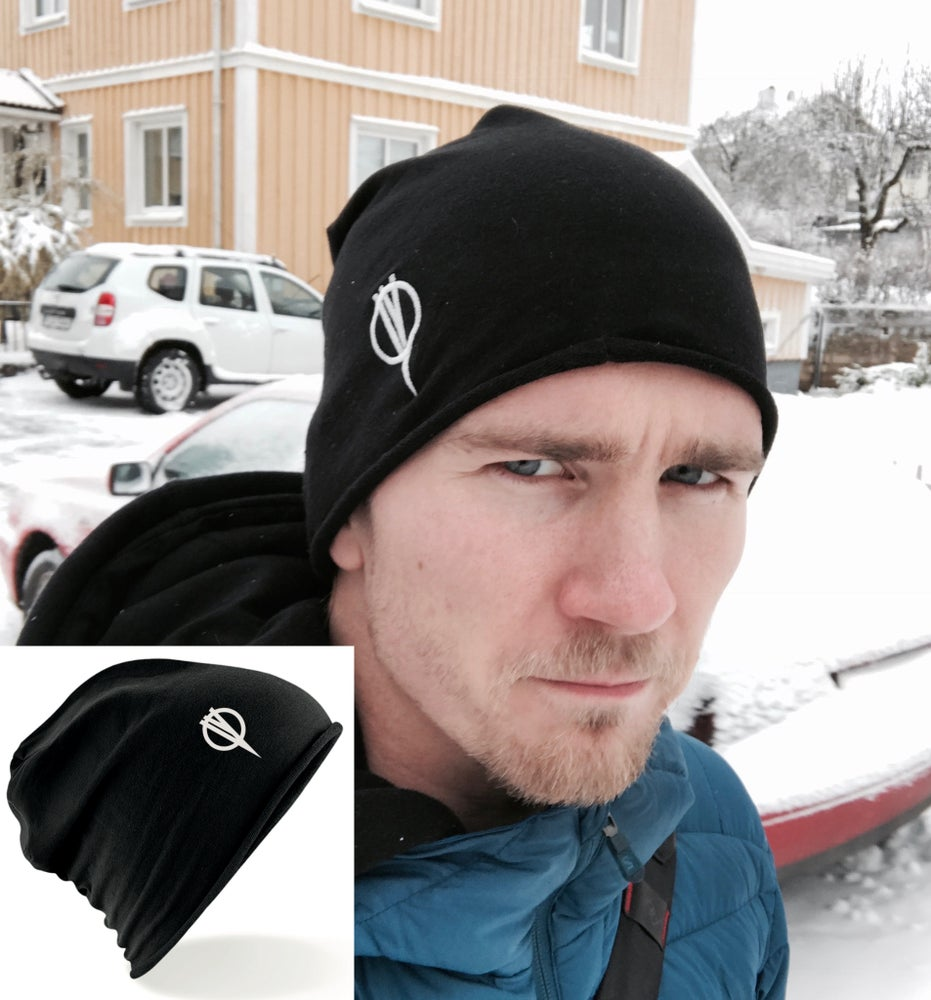 Image of Embroided Jersey Beanie