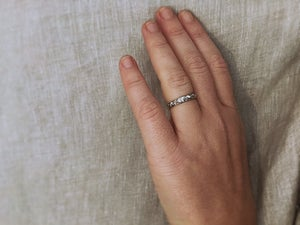 Image of *NEW* palladium 3mm floral engraved ring