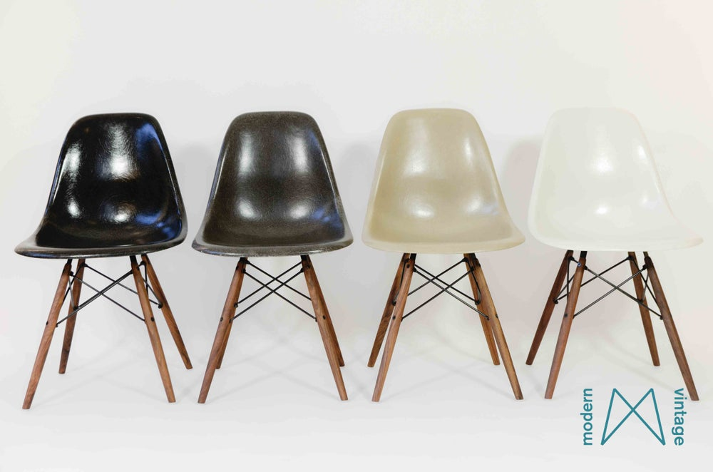 Image of Eames multicolor set Herman Miller Vitra DSW/DSX/DSR black greige off white charcoal