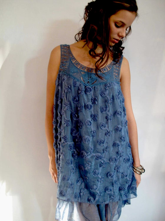 Image of Crepe flower Dress Top