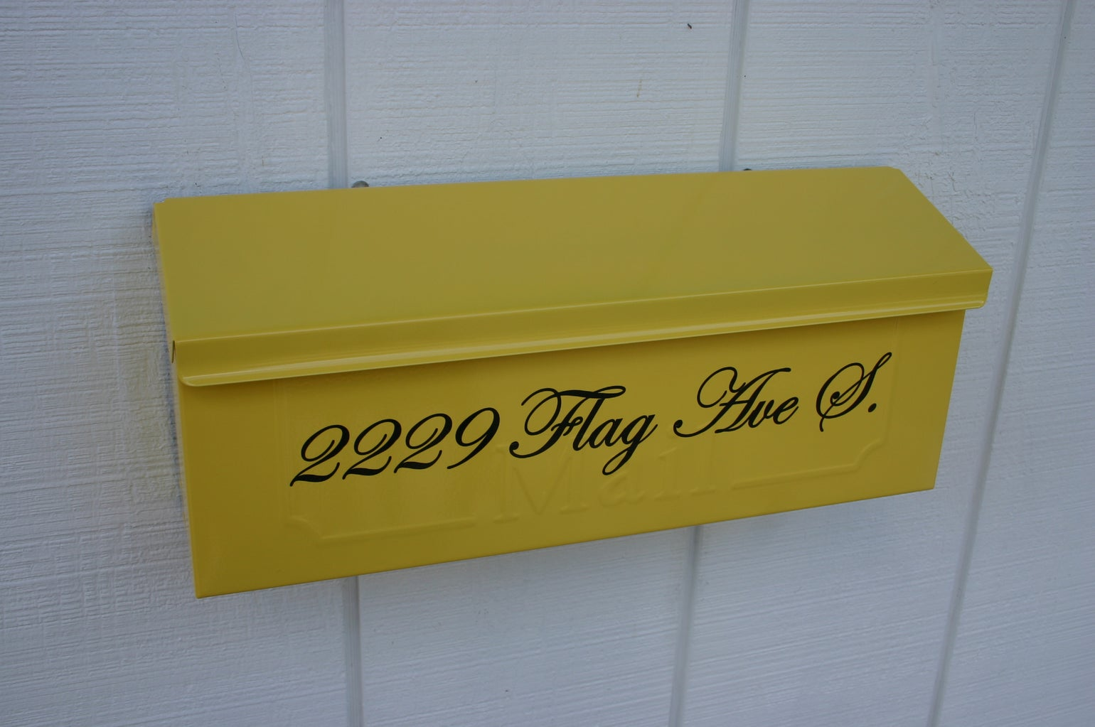 Sun Yellow Painted Mailbox by TheBusBox - Choose your color Wall ...