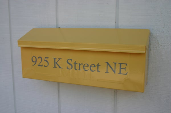 Image of Summer Squash Yellow Painted Mailbox by TheBusBox - Choose your color Wall Mount, Porch Mailbox